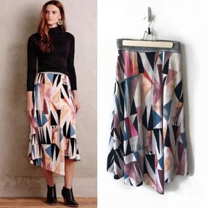 Anthro | Vanessa Virginia Marini Wrap Skirt | S